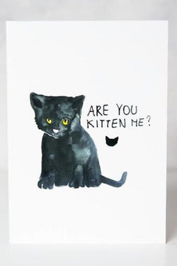 Funny Card - Are You Kitten Me