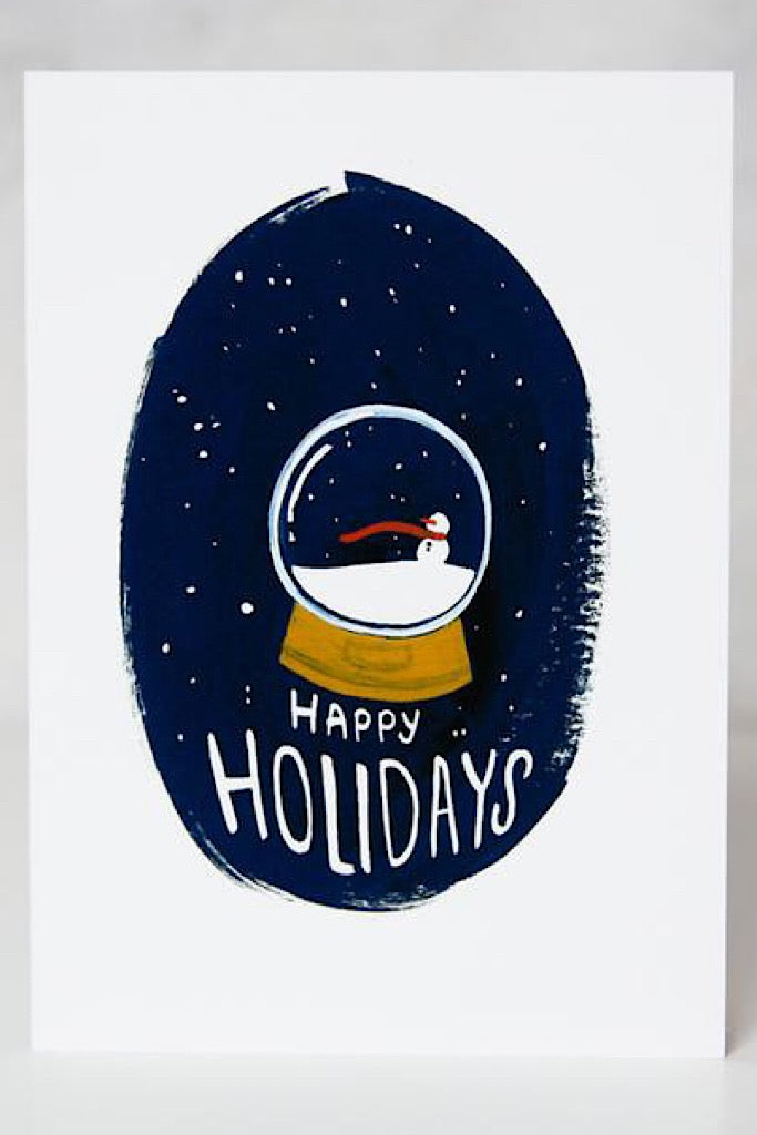 Christmas Card - Snow Globe Holiday