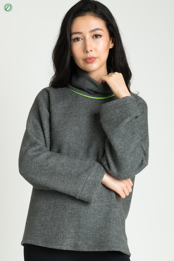 Neon Turtle Neck Sweater