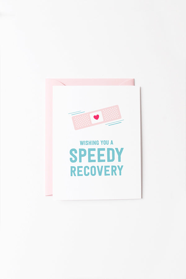 GET WELL SOON CARD—Speedy Recovery Bandage