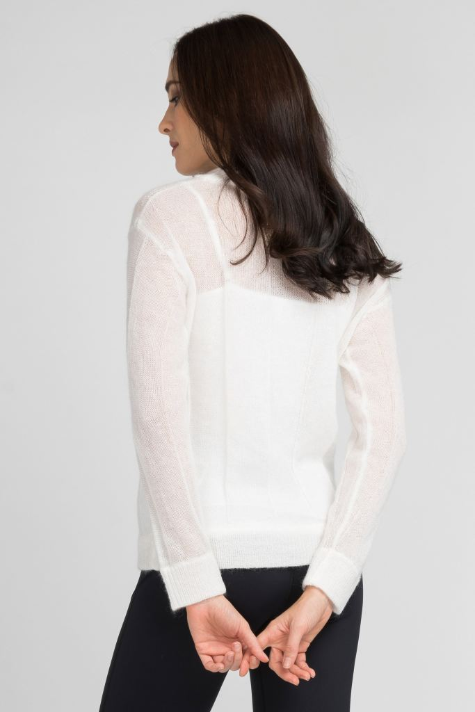 Delicate Mohair Knit Sweater Tops
