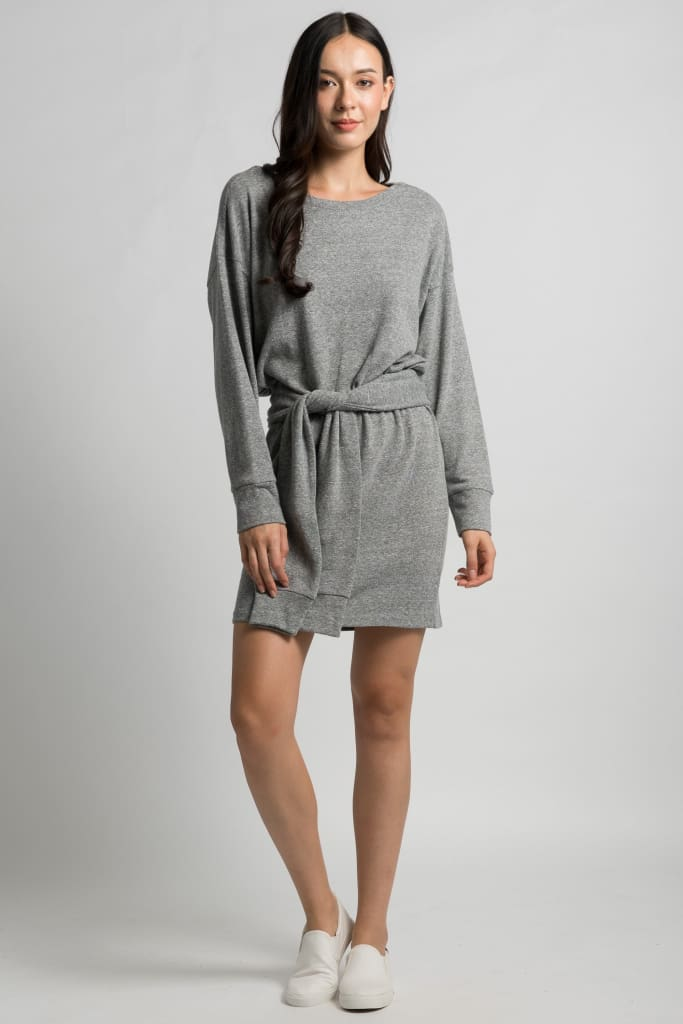 Drop Shoulder Mini Dress