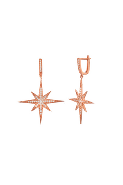 Aria Star Embroidered Earrings