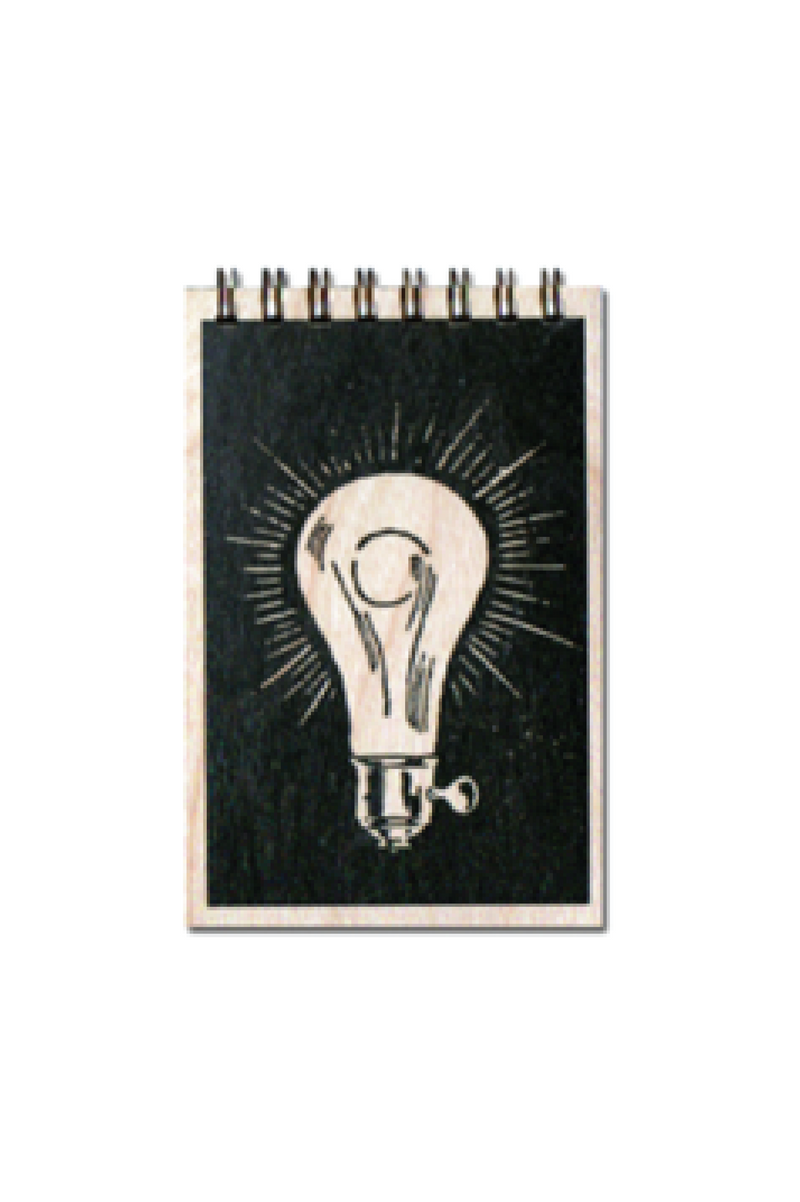 Lightbulb Wood Notebook