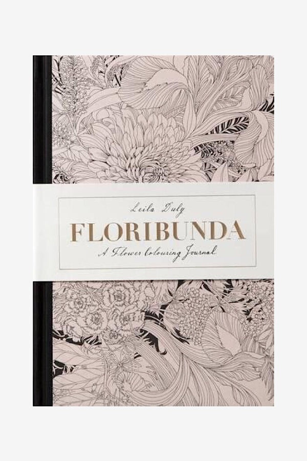 Journal - floribunda flower colouring journal