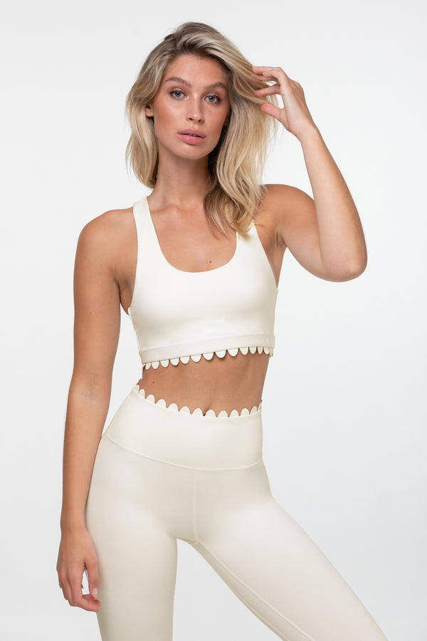 Make A Wish Scoop Crop Bra