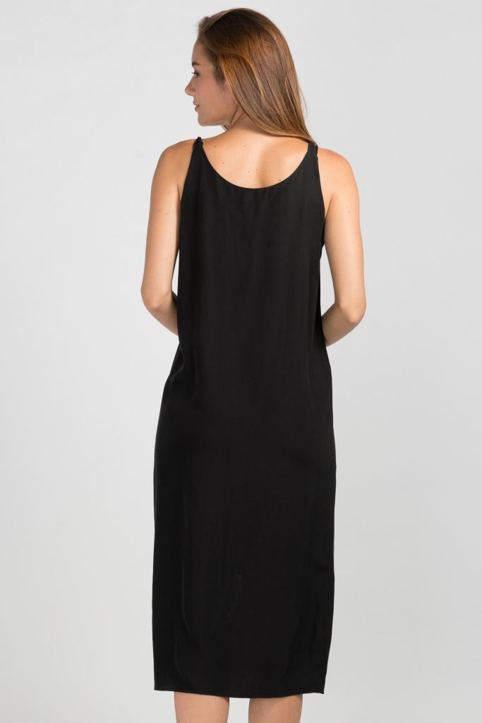 Midi V-Neck Side Slit Tank Dress