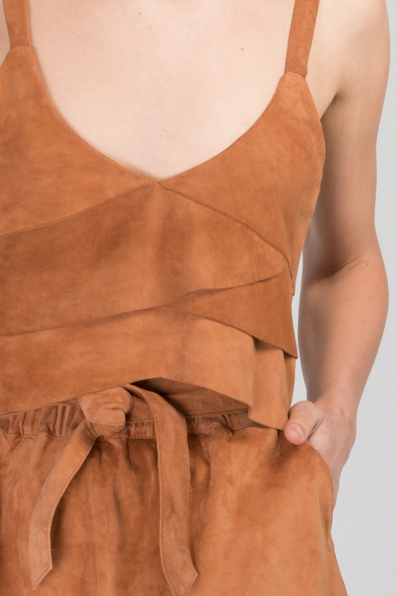 Vali Suede Leather Cami