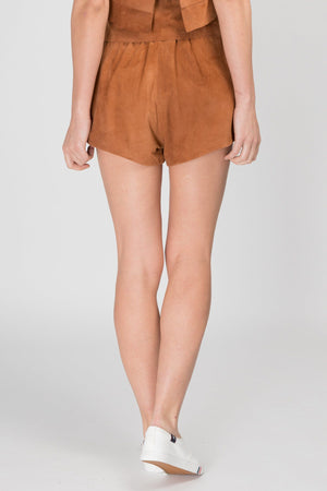 Vali Suede Leather Shorts