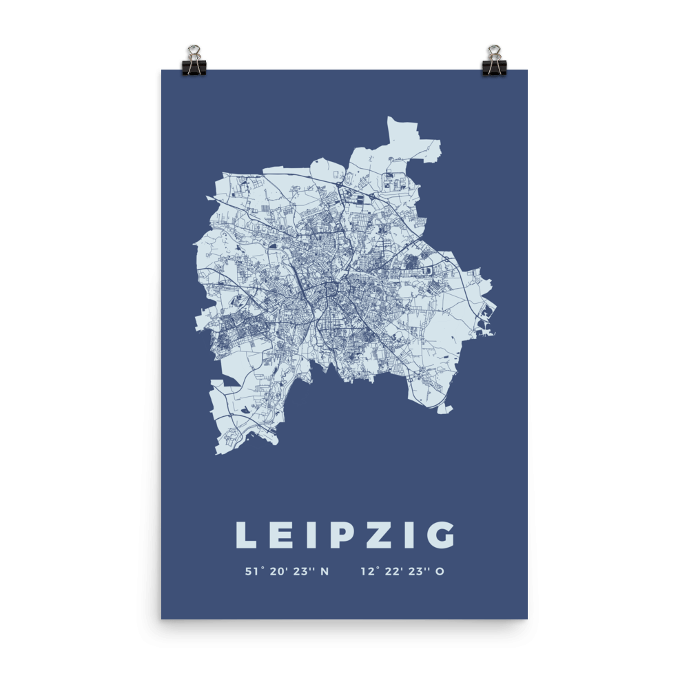 Leipzig City Map Posters Citography