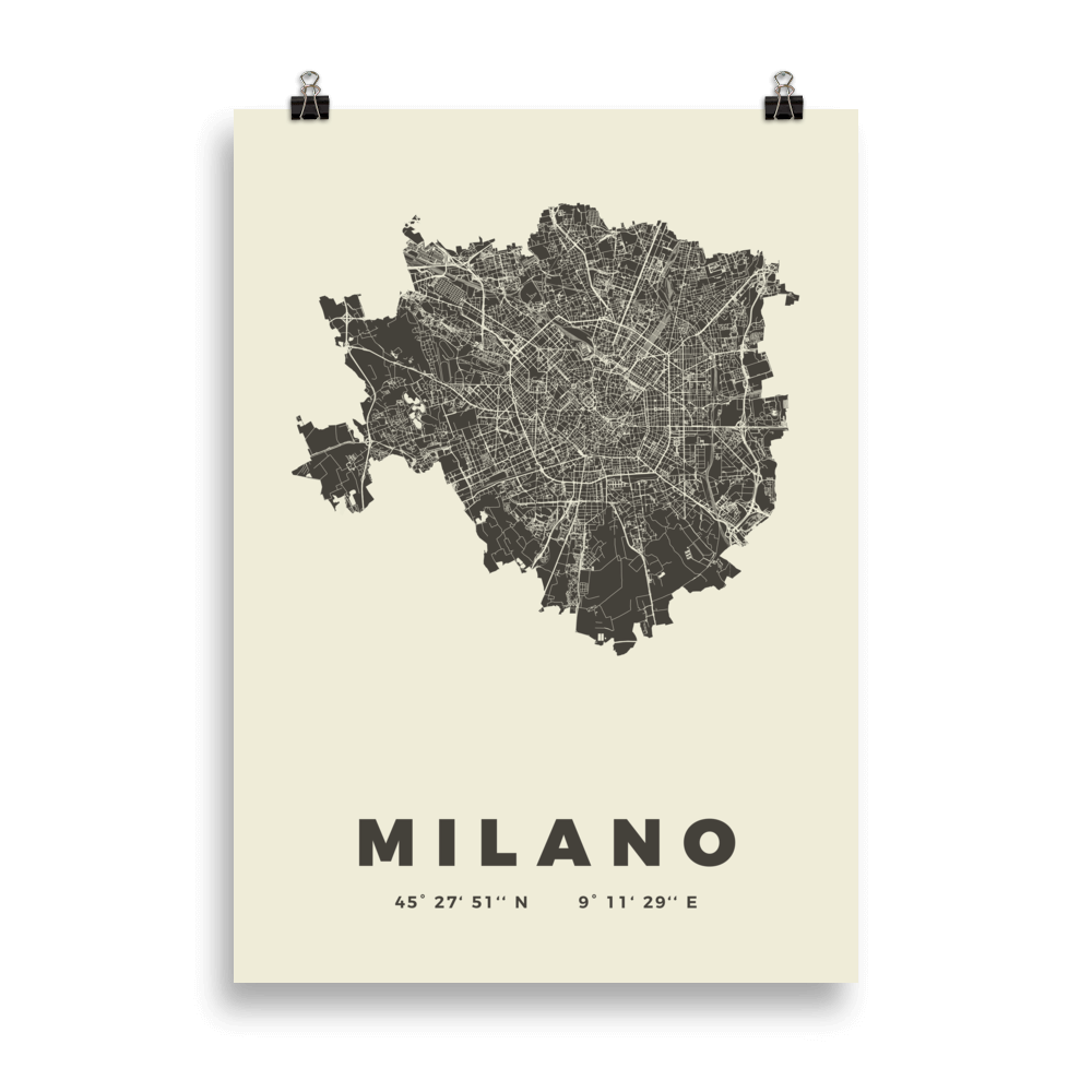 Milano Stadtkarten Poster – Citography