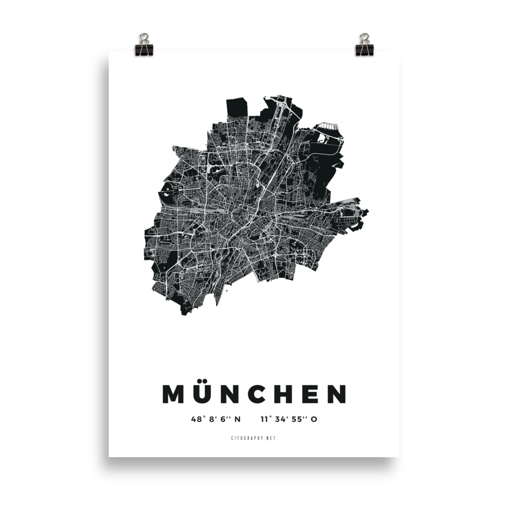 Munich City Map Posters Citography
