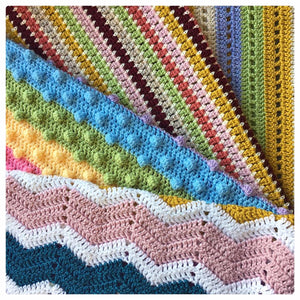 Four Coastal Blankets for Cygnet Yarns