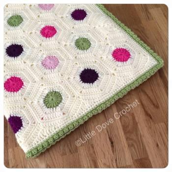 Polka Dot Hexie Blanket