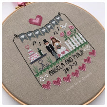 Load image into Gallery viewer, Pink Hearts Wedding Sampler
