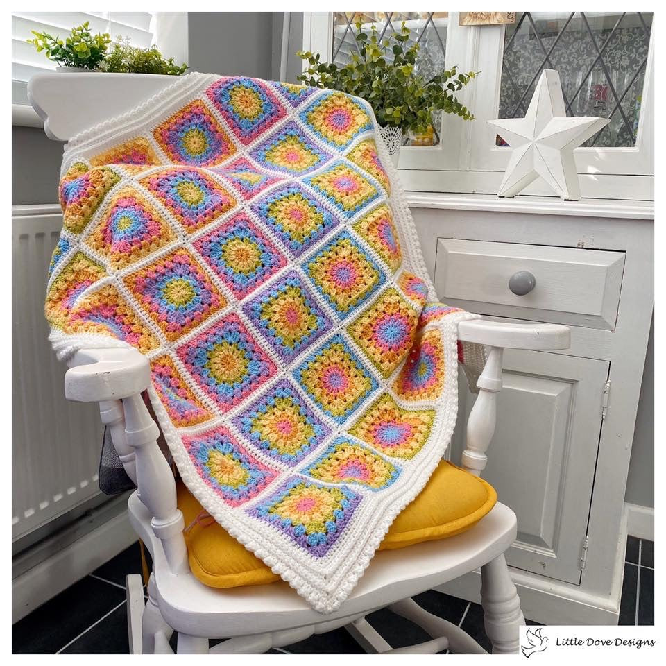 Rainbow Granny Square Blanket