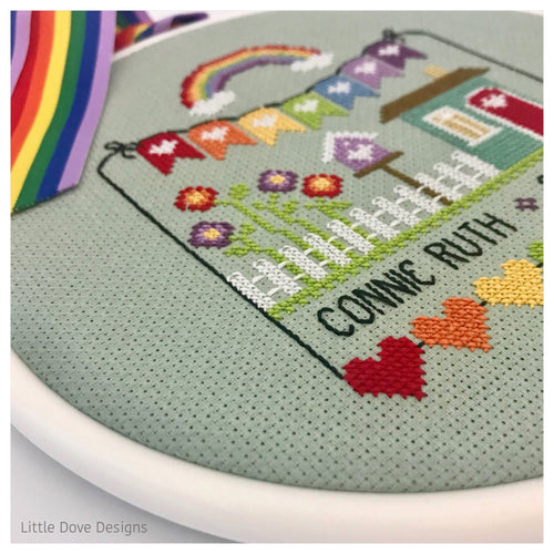 Rainbow Birth Sampler