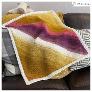 Diagonal Stripe Blanket