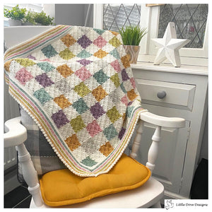 Pastel Patchwork Style Blanket