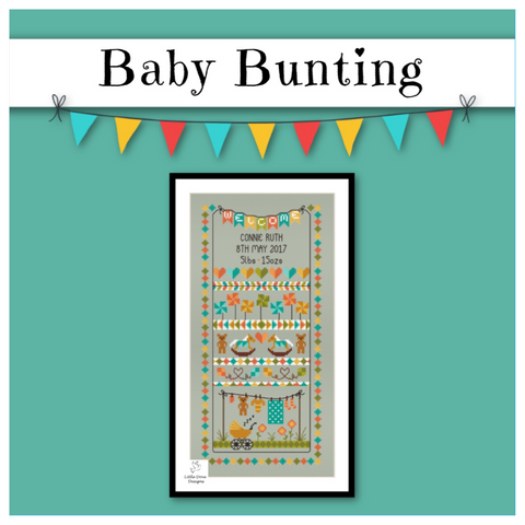 Baby Bunting Birth Sampler