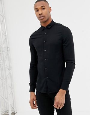 Hemsters black fullsleeve light weight shirt for men