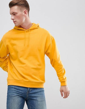 Hemsters full sleeve hoodie in mango orange