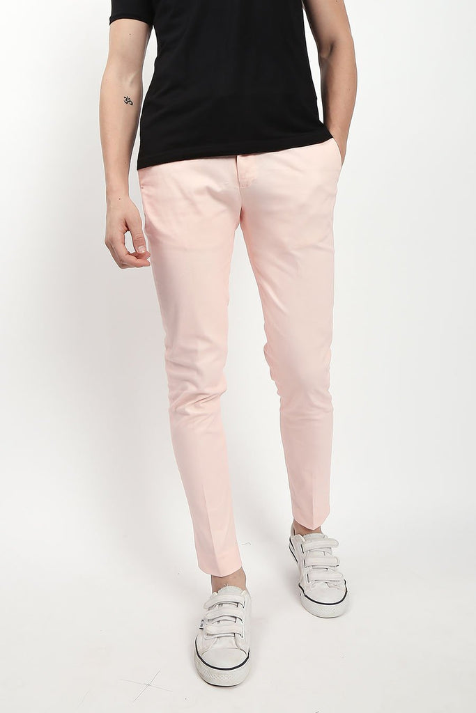 Hemster Pink Slim Fit Chinos For Men