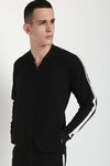 Hemsters Black & White Slim Fit Jacket For Men