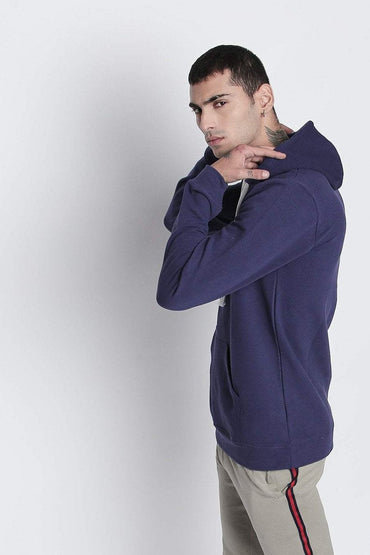 Navy blue Full Sleeve Drawing Hoodie