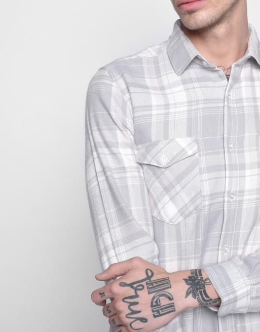 Hemsters White Checkered Shirt for Men