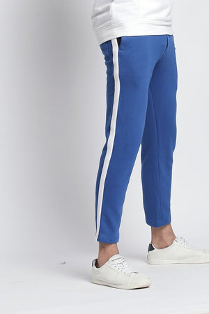 Hemsters Trackpant 28 Royal Blue Slim Fit Ankle length Trackpant