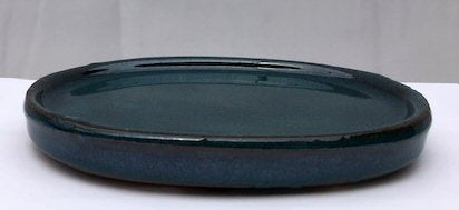 Blue Ceramic Humidity / Drip Tray - Oval-6.5 x 5.0 x .5OD-6.0 x 4.0 x .25ID
