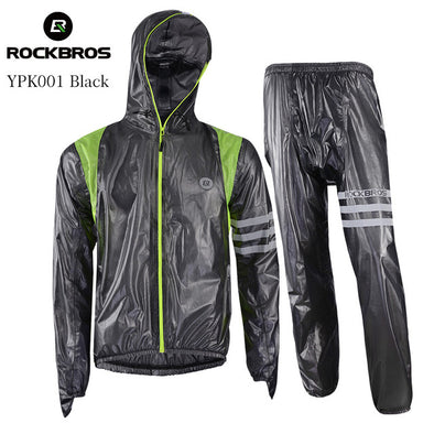 ROCKBROS Waterproof Cycling Raincoat Suit