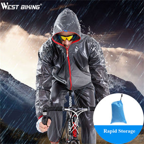 WEST BIKING Waterproof Jersey Bicycle Clothing Cycling Raincoat-Inbike Cycling