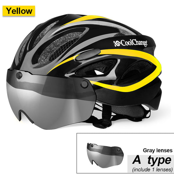 CoolChange EPS Insect Net Road MTB Bicycle Helmet with Lenses-Inbike Cycling