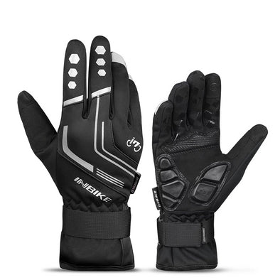 INBIKE Winter Thermal Gel Padded Touch Screen Cycling Gloves-Inbike Cycling