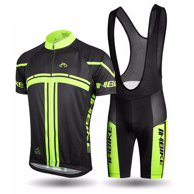 INBIKE Summer Cycling Set with Bib Shorts
