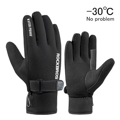 ROCKBROS Ultra-thick Warm Fleece Gloves