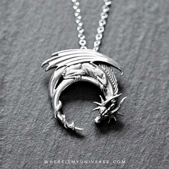 Dragon Crescent Pendant