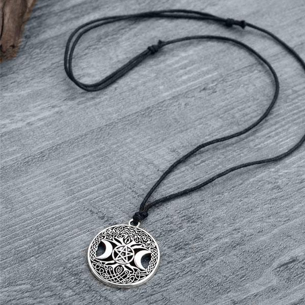 Triple Moon Pentagram Amulet