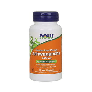 NOW Ashwagandha 450 mg 90 Veg Capsules Stress Adrenal Support