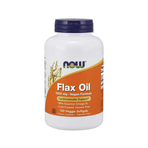 NOW Flaxseed Oil 1000mg 120 Caps Heart Skin Digestion