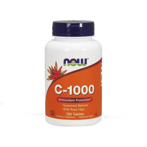 NOW Vitamin C 1000 mg Sustained Release with Rosehips