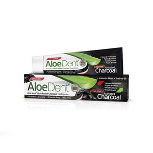 Optima Aloe Dent Fluoride Free Charcoal Toothpaste