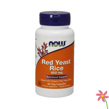 NOW Red Yeast Rice 600 mg Capsules 60's