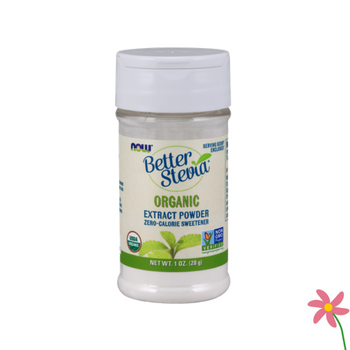 NOW BetterStevia®  Extract Organic Sweetener 28gm