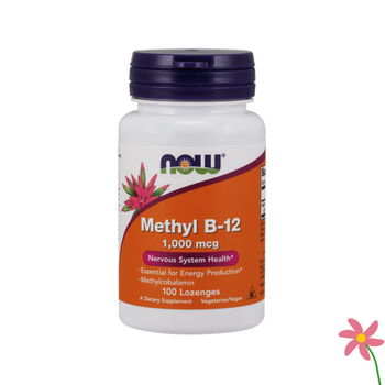 NOW Methyl B12 1000mcg Chewable Lozenges 100s