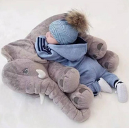 Big Soft Elephant Stuffed Pillow For Kids - Mamimommy.net