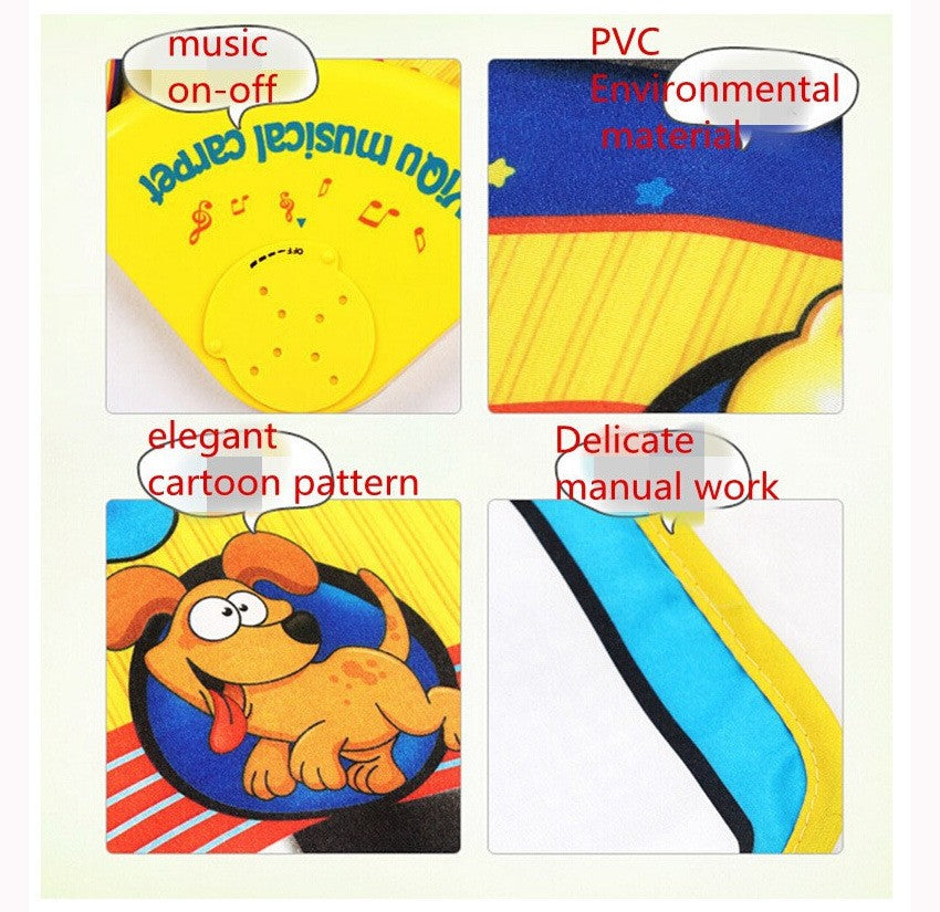 Trendy musical and Educational Toy.  Soft, Colorful piano shaped  carpet . Amusing university for your baby!