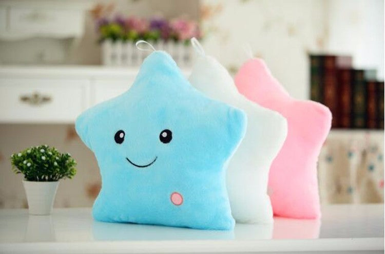 Beautiful Led Light Star Form Plush Pillow For Children's